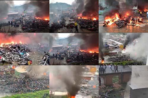 Incendiado parqueadero municipal de Popayán