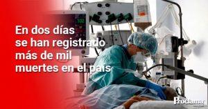 Colombia en tercer lugar mundial por muertes por día