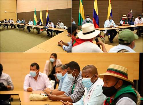 Gobernador del Cauca lidera encuentro con alcaldes municipales y organizaciones del Paro Nacional
