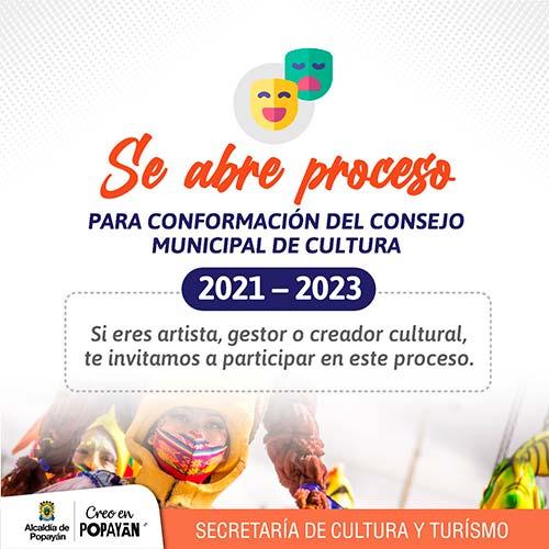 Alcaldía de Popayán amplía plazo para la creación del Consejo Municipal de Cultura