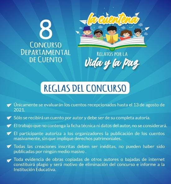 8 Concurso Departamental de Cuento - La Cuentena - Relatos por la Vida y la Paz