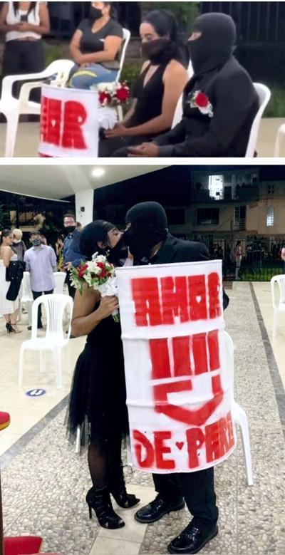"""""""Amor encapuchado"""" en tiempos del Paro Nacional"""
