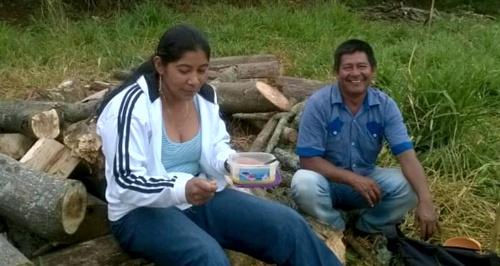 Argenis Yatacué y su esposo Marcelino Yatacué Ipia