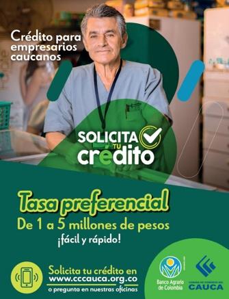Crédito para empresarios caucanos - Cámara de Comercio del Cauca