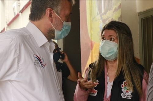 Lida Mera Paz, secretaria de Salud del Cauca y Josè Luis Diago, rector de la Unicauca.