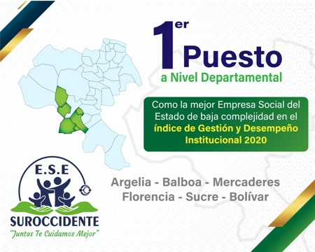 ESE Suroccidente: primer puesto a nivel departamental