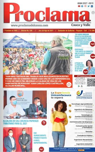 Edición No. 436 de Proclama del Cauca y Valle