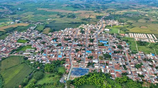 Fotografía aérea Municipio de Guachené - Cauca