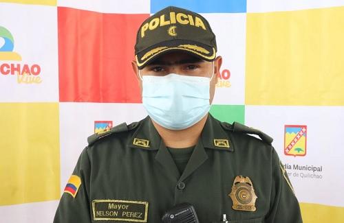 Mayor Nelson Pérez - Comandante Distrito Policía - Santander de Quilichao