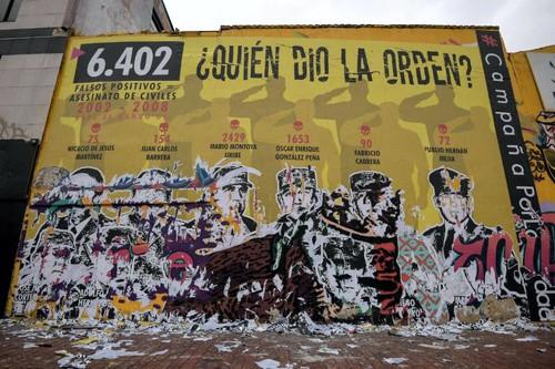 Mural sobre los falsos positivos seguirá siendo público
