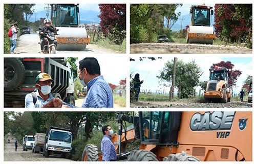Administración Municipal realiza mantenimiento en vías rurales