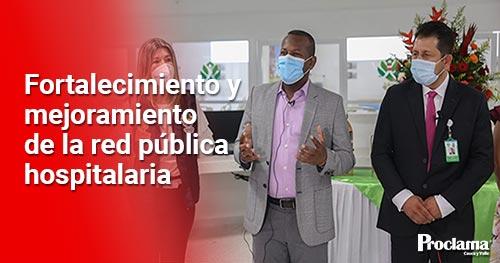 Entrega de nuevos cubículos de unidades de cuidados intensivos en el Cauca