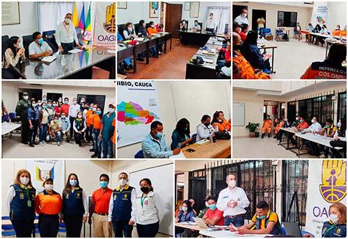 Creación del Cuerpo de Bomberos en el municipio de Cajibío