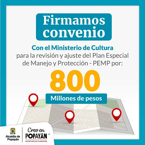 Administración Municipal le apuesta a la reactivación económica a través del Patrimonio Cultural