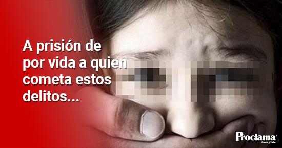 Sancionan cadena perpetua para violadores de niños en Colombia