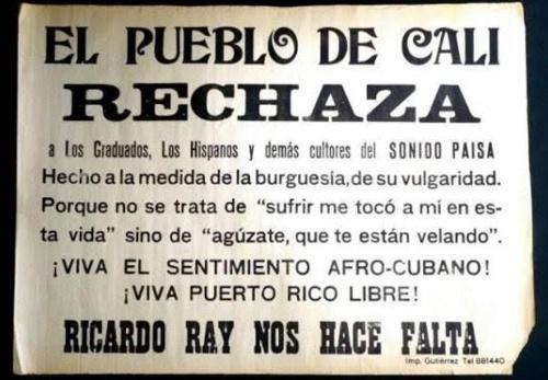 El pueblo de Cali rechaza a Los Graduados, Los Hispanos...