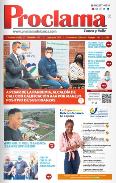 En circulación Edición #437 de Proclama Cauca y Valle