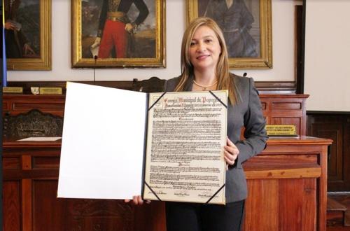 Isabel Ramírez Mejía, rectora de Unicomfacauca