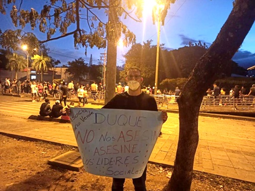 Mauricio Vélez - Líder social - Paro Nacional en Cali