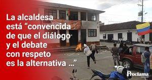 Por protesta se suspendió sesión del Concejo en Timbío