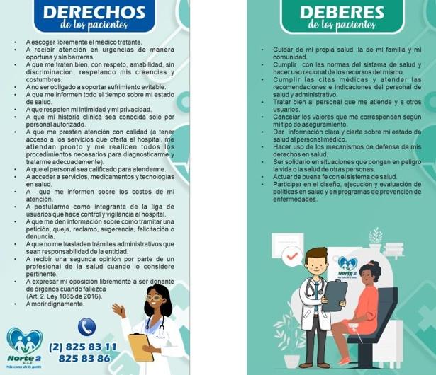 Derechos y Deberes de los Pacientes en la ESE Norte 2