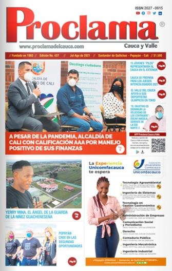 Edición Impresa #437 de Proclama Cauca y Valle