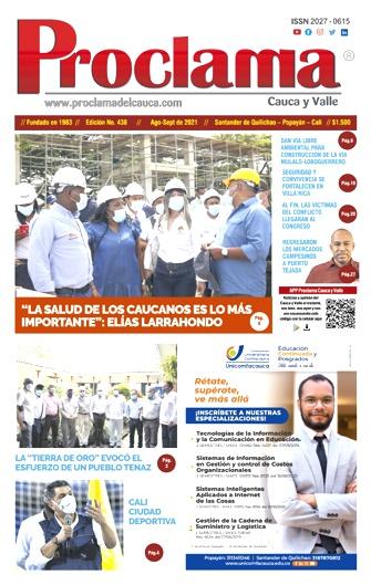 Edición Impresa #438 de Proclama Cauca y Valle.