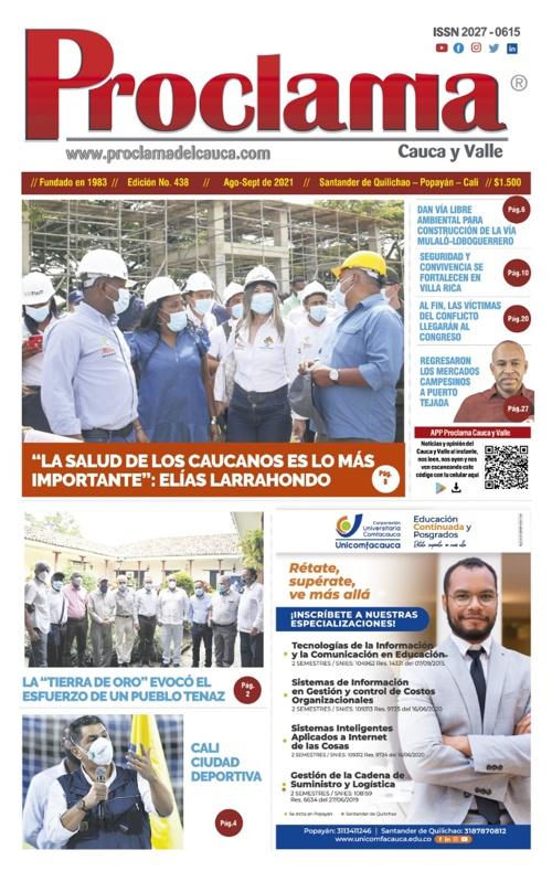 En circulación Edición #438 de Proclama Cauca y Valle