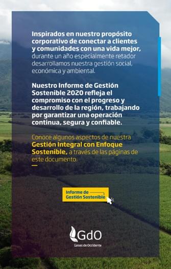 Informe de Gestión Sostenible - Gases de Occidente