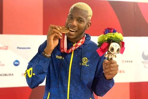 Jean Carlos Mina Aponzá, ganador de medalla de bronce en los Juegos Paralímpicos en Tokyo
