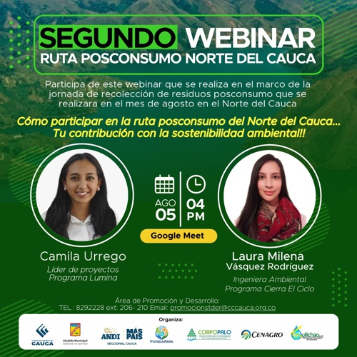 Segundo Webinar Ruta Posconsumo Norte del Cauca