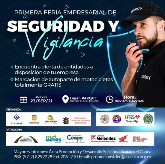 1ra Feria Empresarial de Seguridad y Vigilancia en Santander de Quilichao