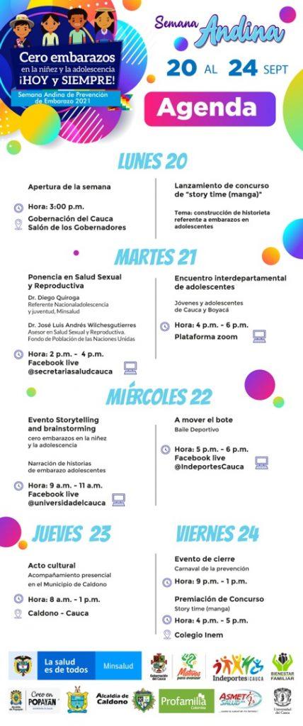 Agenda Semana Andina 2021
