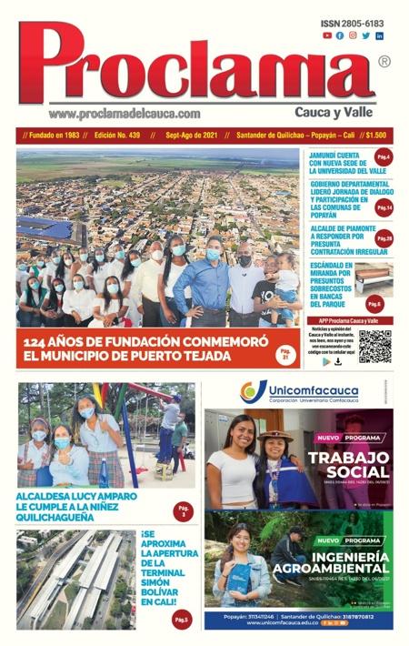 En circulación Edición #439 de Proclama Cauca y Valle