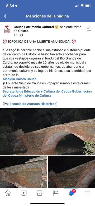 Patrimonio Cultural y Cívico de Caloto sigue desmoronándose