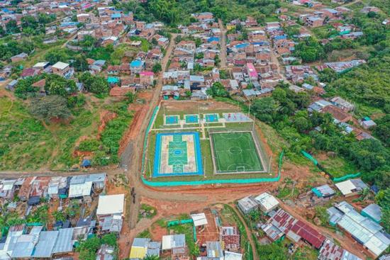 Inauguran dos polideportivos y 19 tramos de vías en Quilichao