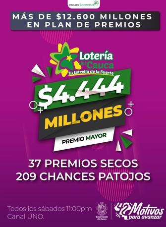 Lotería del Cauca - Nuevo Plan de Premios