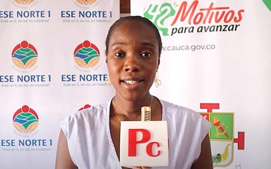 María Fernanda Tovar Ocoró, gerente de la ESE Norte 1