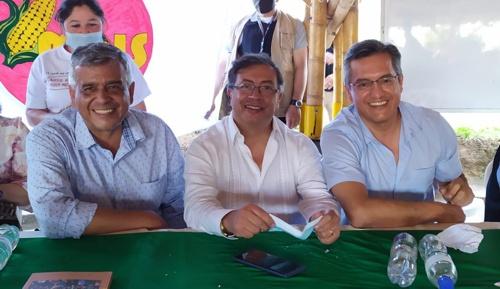 Oscar Gerardo Salazar, Gustavo Petro y Jorge Bastidas Romero