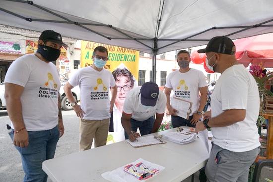 Recolección de firmas para la candidatura a la presidencia de Alejandro Gaviria en Santander de Quilichao