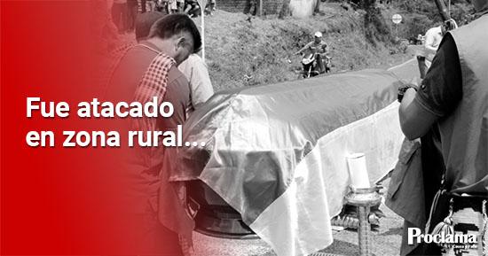 Asesinan a comunero indígena en el norte del Cauca