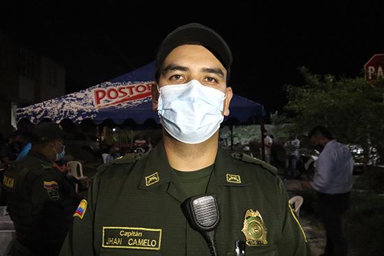 Capitán Jhan Camelo, comandante de la Estación de Policía de Santander de Quilichao