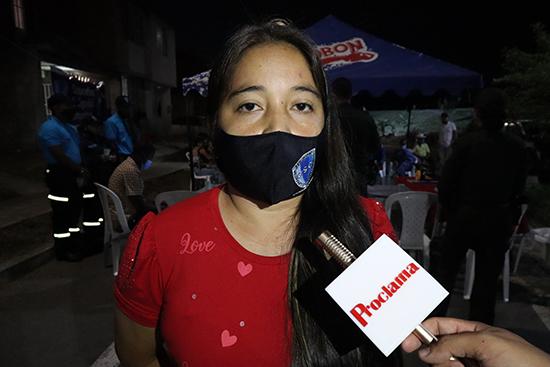 Claudia Johanna Vásquez, líder y habitante de la Urbanización Chicao