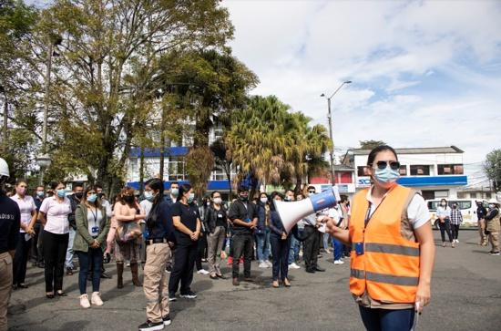 Comfacauca participó del Simulacro nacional de respuesta a emergencias