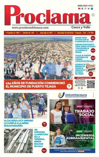 En circulación Edición Impresa #439 de Proclama Cauca y Valle