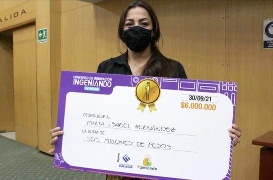Martha Isabel Hernández Barragán - Ganadora de Concurso de Innovación Ingeniando 2021