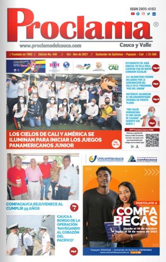 En circulación Edición Impresa #440 de Proclama Cauca y Valle